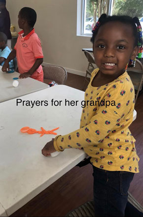 pray for her grandpa